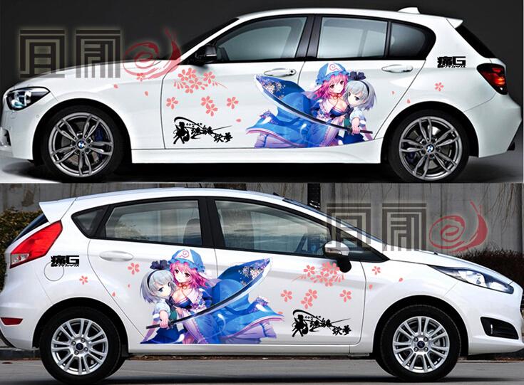TOUHOU REIMU ANIME DECAL STICKER Touhou Pinterest Anime -  car sticker custom