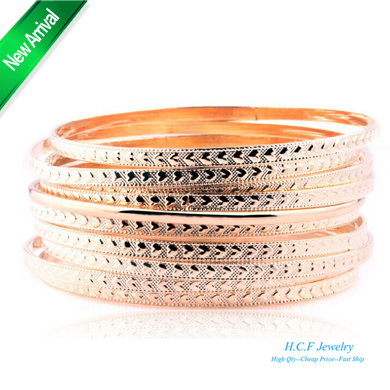 product 2015 New Arrival Christmas GIft 18K GP National Wind Restoring Ancient ways Classical Multilayer Bangle Bracelet Adorn Article