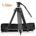 High Quality Professional Aluminum Alloy EI717 1 33m 4 4 Video Camera Tripod Fluid Pan Head