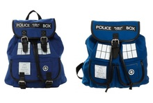 Doctor Dr. Who Tardis Women's Knapsack Backpack Police Box Bag Good Quality With Tag(China (Mainland))