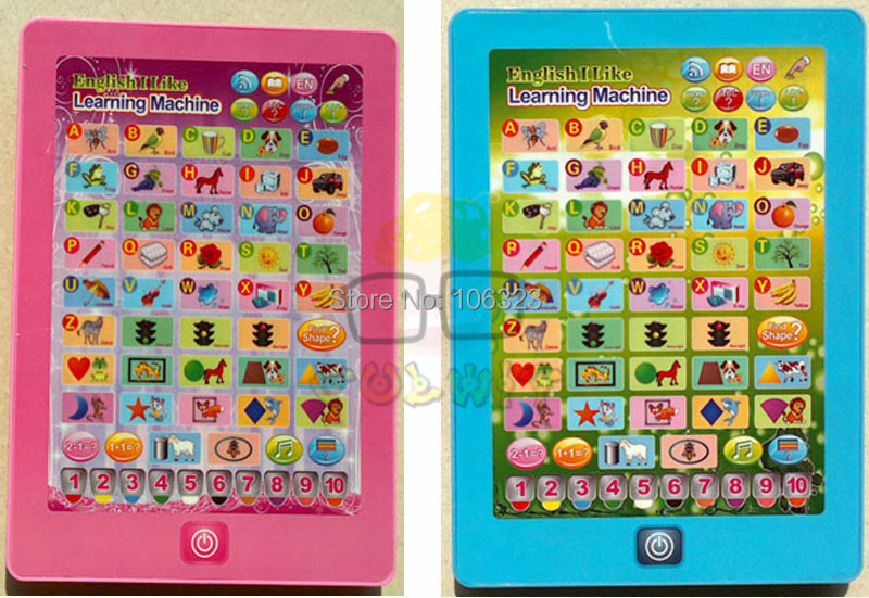 Wholesale Best Gift,English Children Interesting Learning Computer Toys,Machine Letters+Words+Shapes+Animals+Number+Colors+Songs(China (Mainland))