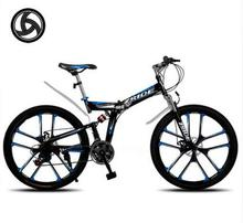 Folding High Altruism  Folding bicycles for men 21/24/27/30 speed 26 inch steel mountain bike bicycle downhill One wheel(China (Mainland))