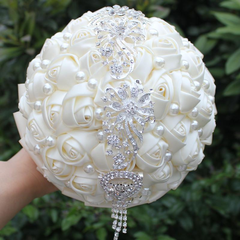 Stunning Bouquet Candy Color Silk Artificial flowers Holding Bouquet Wedding Bouquet Diamond Tassel Flower Wedding Decoration(China (Mainland))