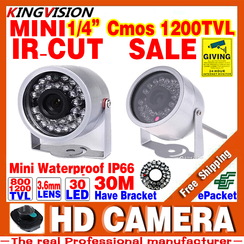 Sale Mini Surveillance 1/3cmos 800/1200TVL LED Security Infrared 30m Color ahdl CCTV Camera Outdoor Home Video HD Night Vision(China (Mainland))