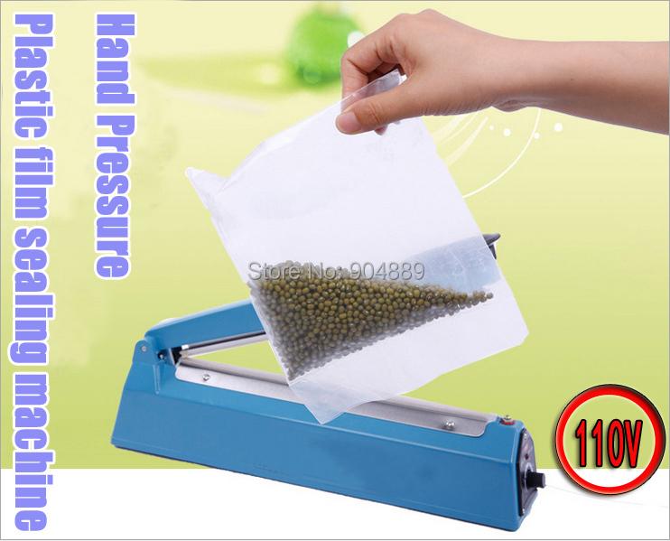 NEW 110V 200 Hand pressure PP PE Sealer plastic film manual impulse sealing machine packing machine/tools(China (Mainland))