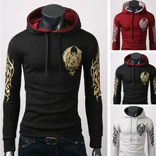 Spring New 2014 Special Hoodie Coat men clothes men's jacket fashion print hooded pullover sweatshirt coats mens outwear 4 Color(China (Mainland))