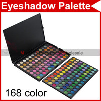 168 Full Color Cream Warm & Cool Pro Professional Camouflage Eyeshadow Eye Shadow Makeup Gloss Neutral Cosmetic Palette 2239