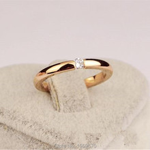 Unbelievable Charming Rings Gift 18k Gold Plating Crystal CZ Engagement Rings for Women Jewelry High-quality Ring Free Shipping
