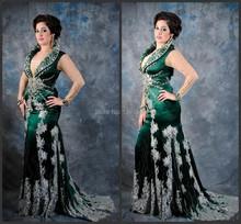 2015 echt Winter Dress Sexy Arabische Abendkleider mit Perlen Und Kristallen Teppich Plus Größe Promi-kleider mit Langarm Neue(China (Mainland))