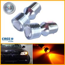 2pcs Amber Yellow Error Free BAU15S 7507 PY21W 1156PY CREE LED Bulbs For Front Turn Signal Lights(China (Mainland))
