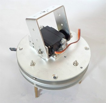 2-DOF robot base Arduino servo PTZ camera photography turntable chassis