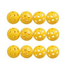 12Pcs Plastic Whiffle Airflow Hollow Golf Practice Training Sports Balls H1E1(China (Mainland))