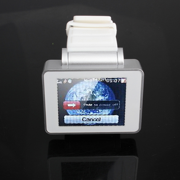 Silver Wrist Watch Cell Phone 1.8''TFT Touch Screen Bluetooth TF Card 88(China (Mainland))