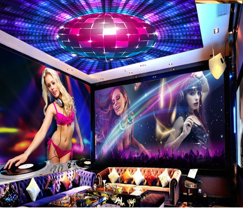 3d printing background wallpaper description hot girls for Ceiling mural in a smoker s lounge