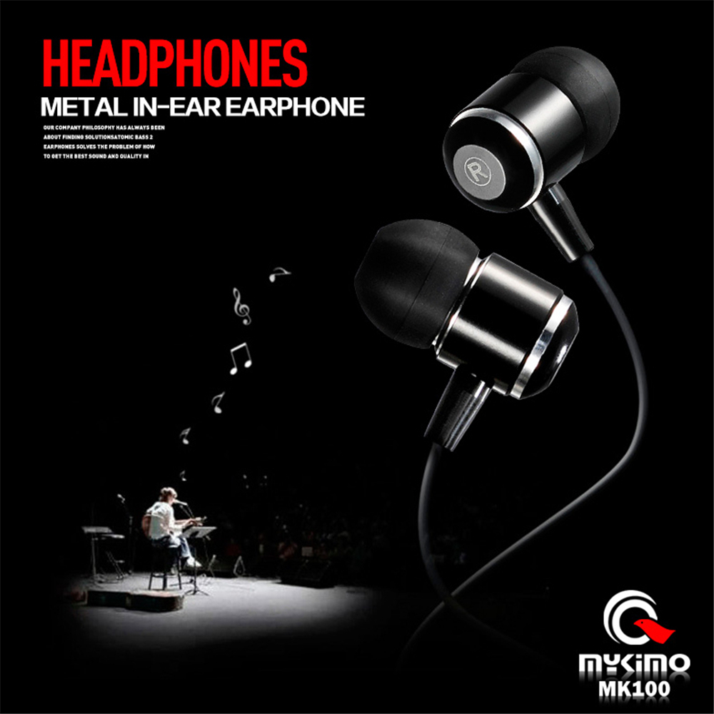 Original MYKIMO Earphone MK100 3.5mm In-ear auriculares High Quality Super Clear Noise Isolating Earbud Mic MP3 MP4 audifonos(China (Mainland))