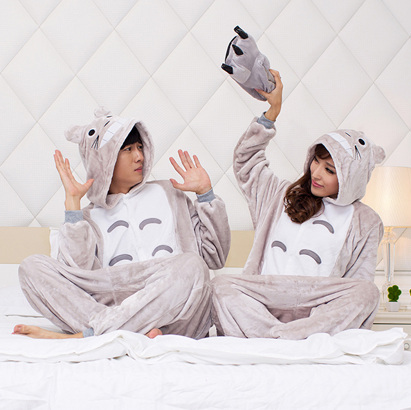 halloween anime kost m totoro pyjamas f r frauen m nner pyjama onesie erwachsene karneval. Black Bedroom Furniture Sets. Home Design Ideas