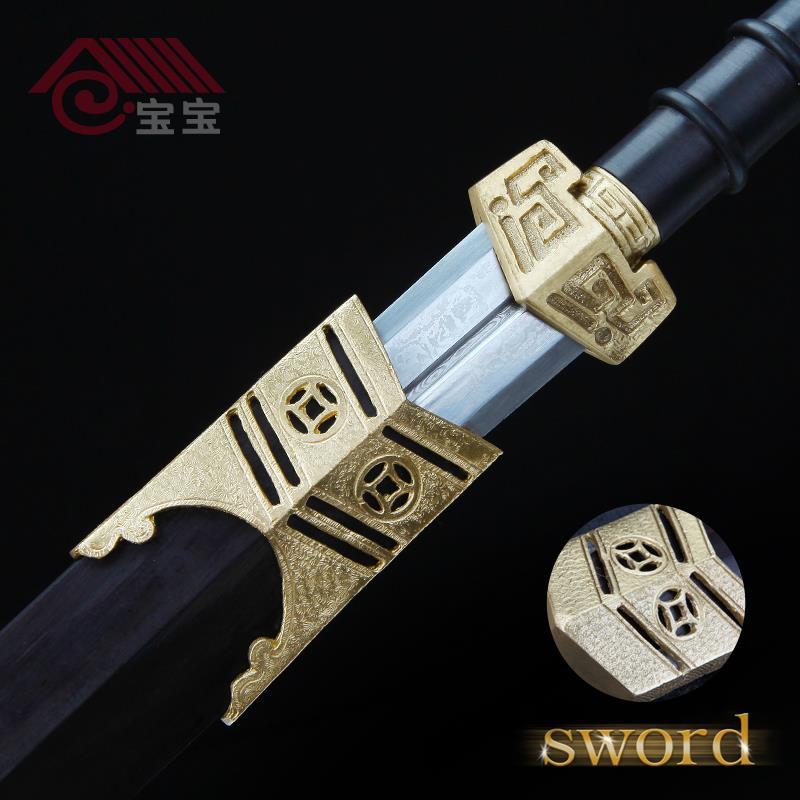 LQS15hj070018 vintage home decor hand making dagger copper carved short  sword
