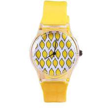 Girl's Fashion Sweet Transparent Case Sugar Color Fresh Summer Patterns Quartz Rubber Band Wrist  Wristwatch Dress Watch CMHM393