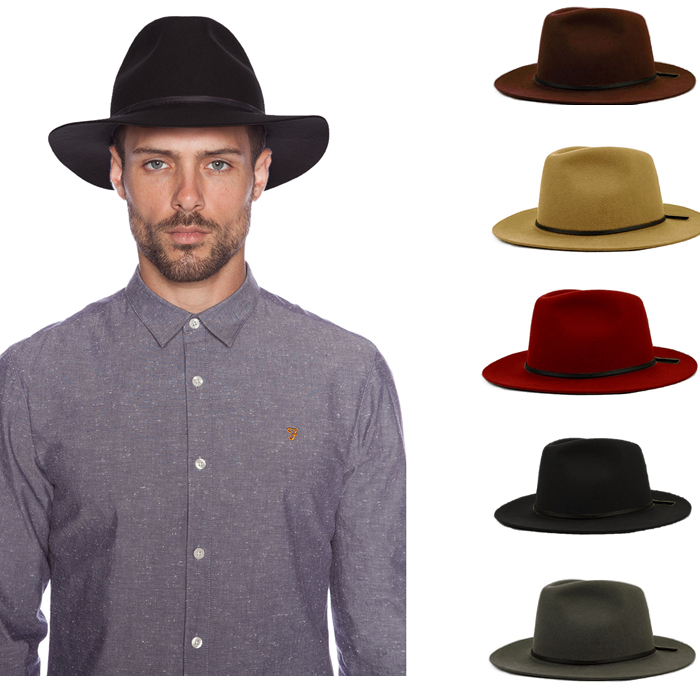 Fashion 100% Wool Summer Women's Men's Crushable Genuine Felt Fedora Bush Sun Hat Trilby Gorra Toca Sombrero with leather band(China (Mainland))