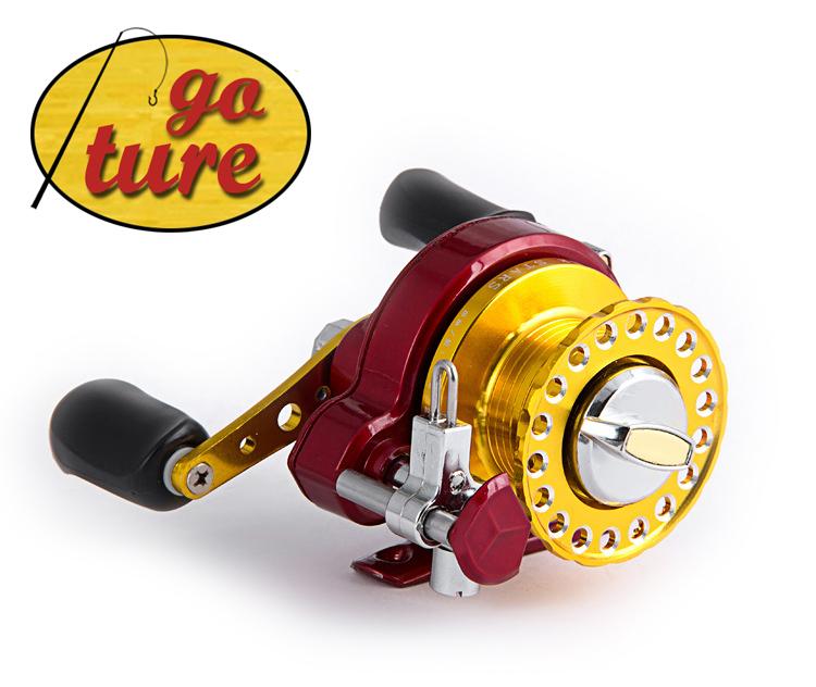A60002 High Strength Light Metal Spool/Handle Centre Pin/Raft Fishing Reel for Raft/Reservoir/Saltwater/Freshwater Fishing 7BB(China (Mainland))