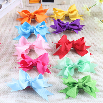 Free Shipping Spiked Layers Girls Hair Bows Infant Girl Hair Clip Boutique hair bows 40pcs HB001