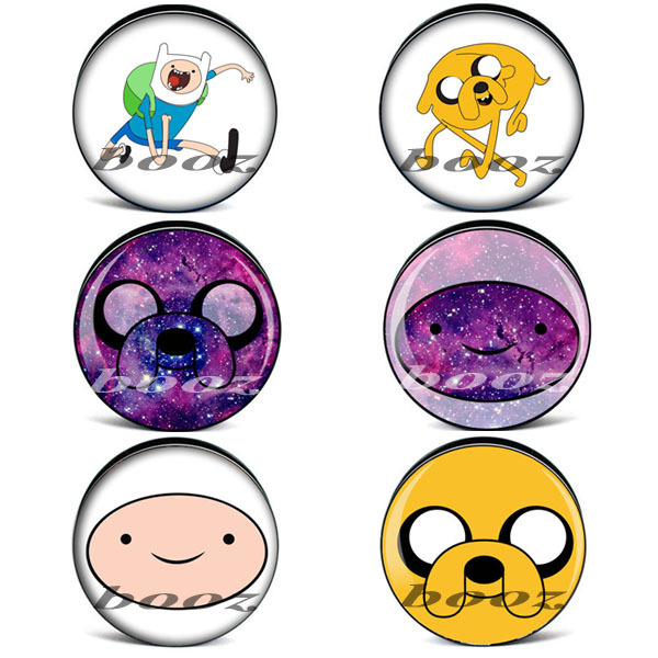 wholesale plastic amine adventure time ear plugs tunnels stretchers piercing body jewelry AE-1100(China (Mainland))