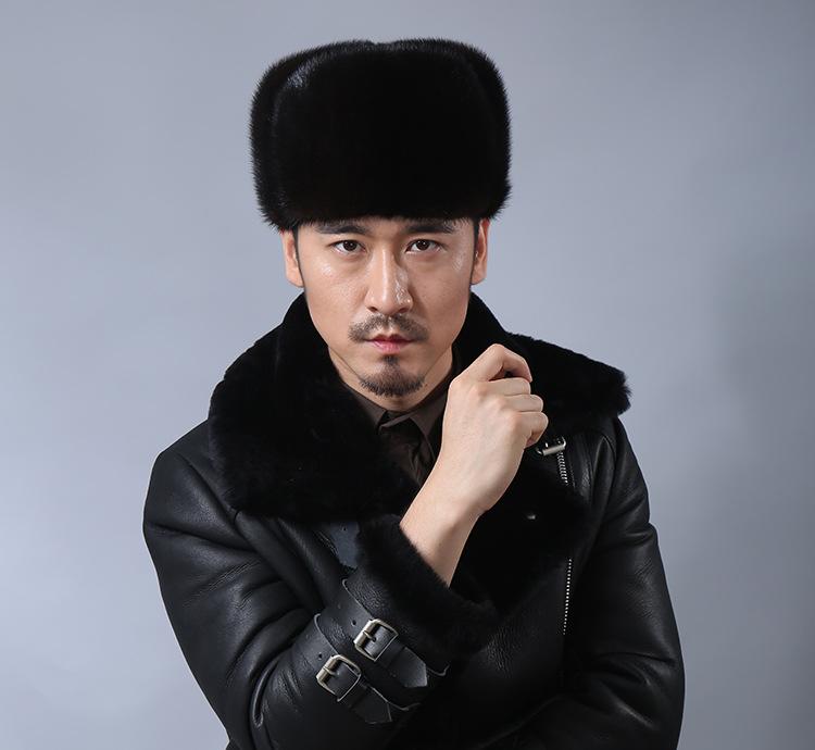 К 2015 году новый бренд моды зимы меховая шапка из норки для мужчин и женщин толстые теплые твердые весь матч повседневные качественные шапочки Cap 19999