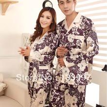 Womens Mens Winter Rayon Silk Fleece Sleepwear Pajama Sets Couples Robes Nightwear(China (Mainland))