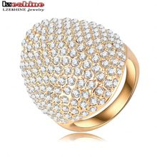 Buy LZESHINE Custom Rings Women Gold Plate Pave Full Rhinestone Austrian Crystals SWA Elements Party Ring Jewelry Ri-HQ0235-b for $3.06 in AliExpress store