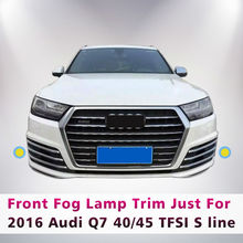 6PCS/SET ABS CHROME FRONT GRILLE FOG LAMP LIGHT TRIM STICKER FOR 2016 AUDI Q7 TFSI S LINE SPORT CAR STYLING ACCESSORIES - Blinks Accessories Store store
