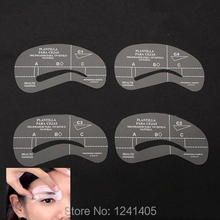 24 styles lot Shaping Eyebrow stencils 24 styles reusable eyebrow drawing guide card brow template