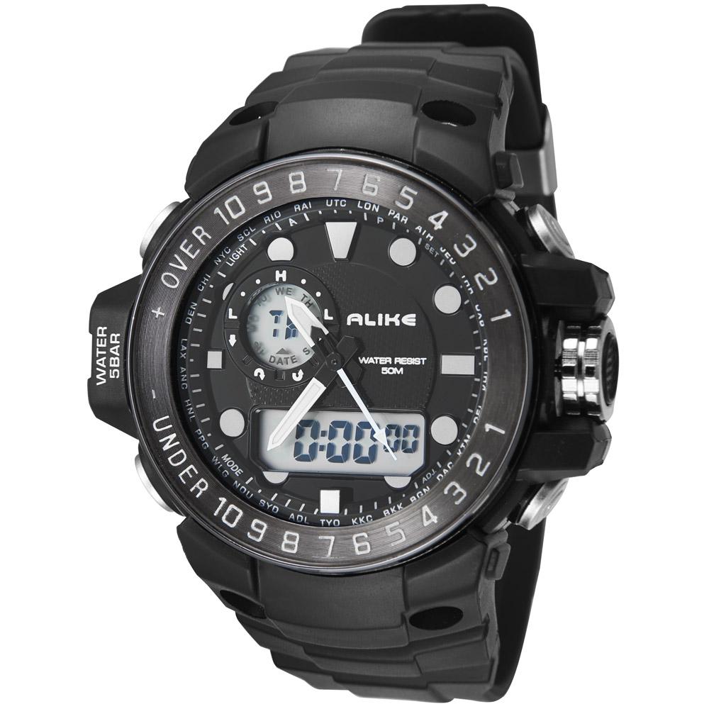 2016 New Alike Brand Men LED Digital Military Watch 50M Dive Swim Dress Analog Men Sports Watches Fashion Quartz Wristwatches(China (Mainland))
