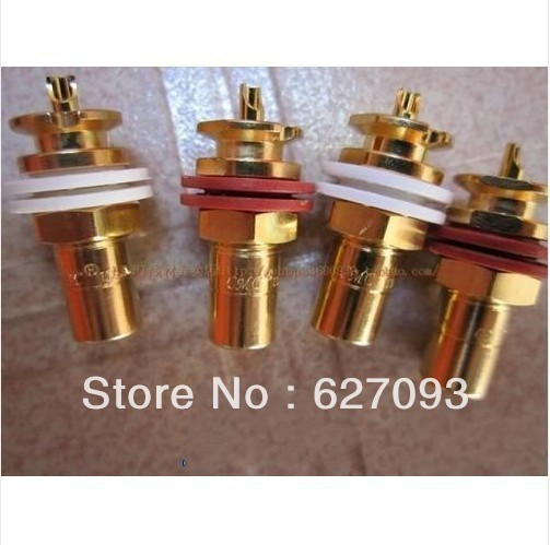 4pcs CMC 816-U RCA Female Gold Plated Jack Socket