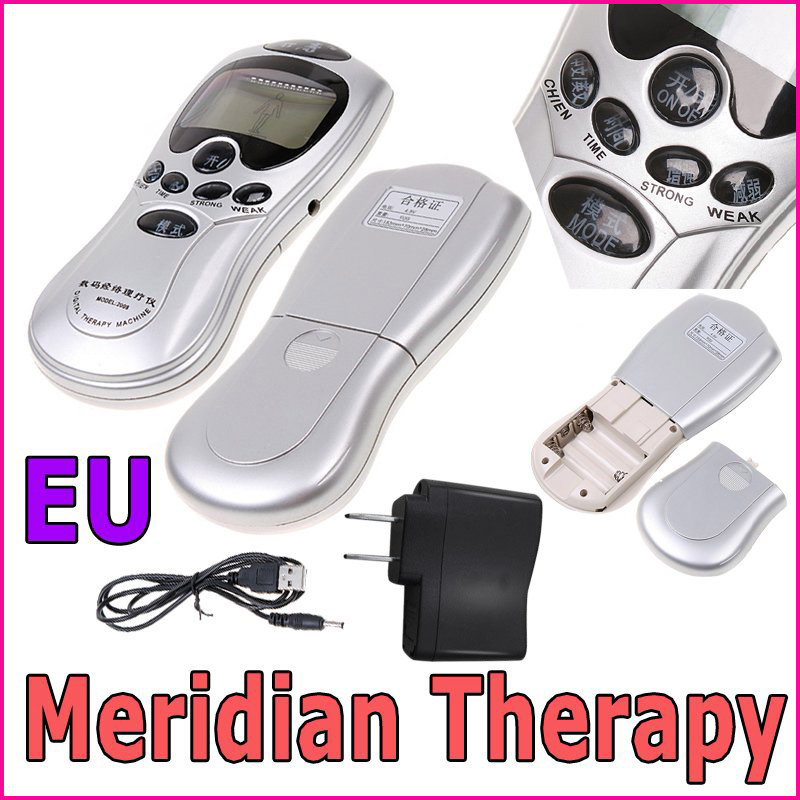 4 Electrode Health Care Tens Acupuncture Electric Therapy Massage Machine Pulse Body Slimming Sculptor Massager Apparatus MBO-18(China (Mainland))
