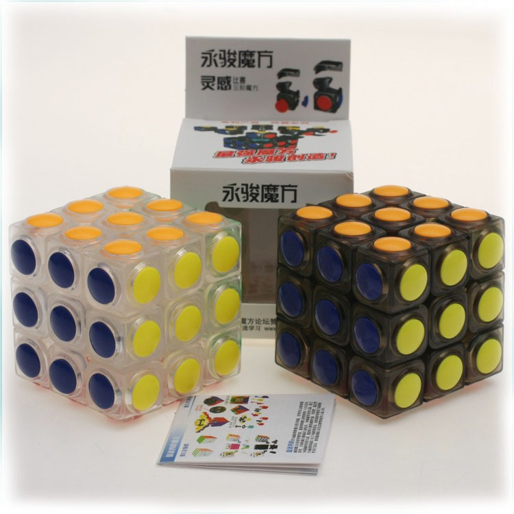 Magic Cube 3x3x3 Smooth No Sticker Granule Transparent Magico Cubo Puzzle Blocks Challenge Educational Kids Gifts Toys 1299(China (Mainland))