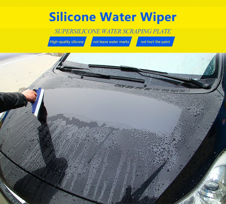 DREAMCAR Silicone Water Wiper Scraper Blade Squeegee Car Vehicle Windshield Window Washing Cleaning Accessories Blue