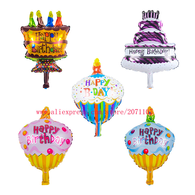 Lucky 250pcs/lot Mixed Colorful Birthday Cakes Mini Balloon Baby Shower Foil Baby Balloons Birthday Party Decoration Globos Toys(China (Mainland))
