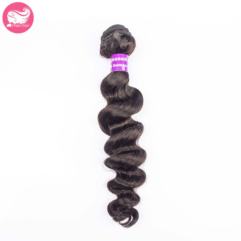 Wholesale 7A Unprocessed Human Virgin Brazilian Loose Wave Hair Weave 1pc Brazilian Hair Bundles Loose Body Wave Hair Extensions