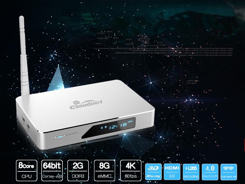 Cloudnetgo CR18S 5.1 Android Network TV Box RK3368 Box 5.0G WiFi 2G RAM 16G ROM HDMI 2.0 FLAC APE WAV HD music XBMC player(China (Mainland))