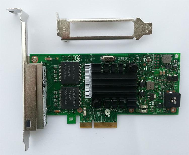 NEW Intel I350-T4 PCI-Express PCI-E Four RJ45 Gigabit Ports Server Adapter NIC(China (Mainland))