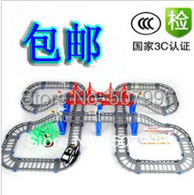In Stock Christmas novelty Rail car double layer car electric train track toy child RC Trains(China (Mainland))