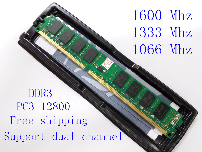 New RAM  Desktop memory  DDR2  DDR3 RAM 4GB 2GB 1GB 1600MHZ / 1333MHZ / 1066MHZ/ 667MHZ / 800MHZ  Support dual channel(China (Mainland))
