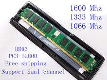 New ram memoria desktop di ddr2 ddr3 ram 4 gb 2 gb 1 gb 1600 mhz/1333 mhz/1066 mhz/667 mhz/800 mhz supporto dual channel  (China (Mainland))