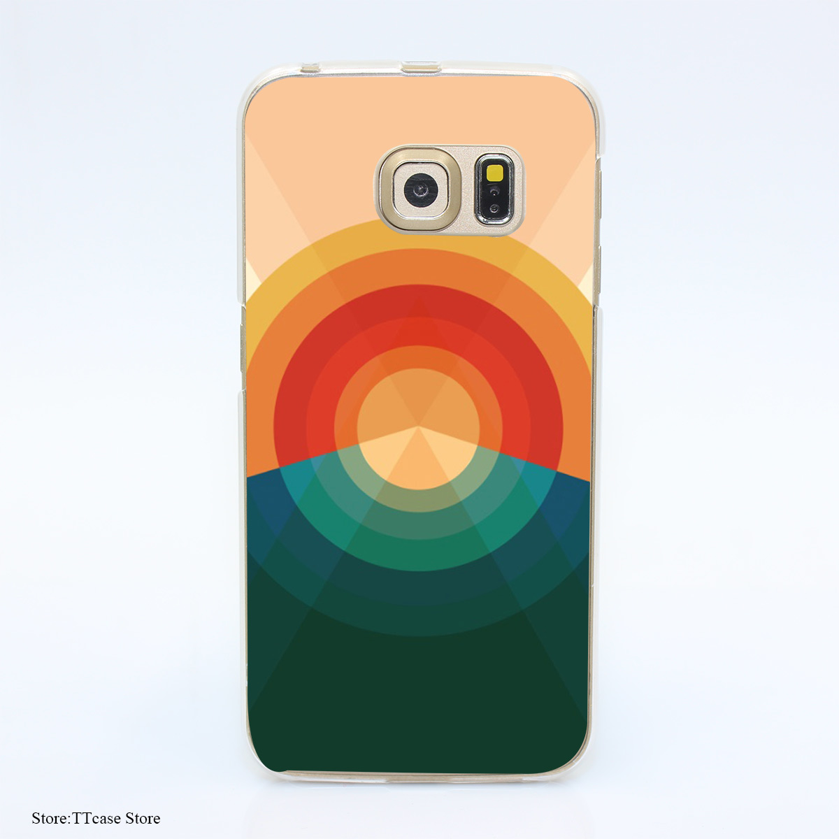 3078G Sonar Pou Print Hard Transparent Case Cover for Galaxy S3 S4 S5 & Mini S6 S7 & edge