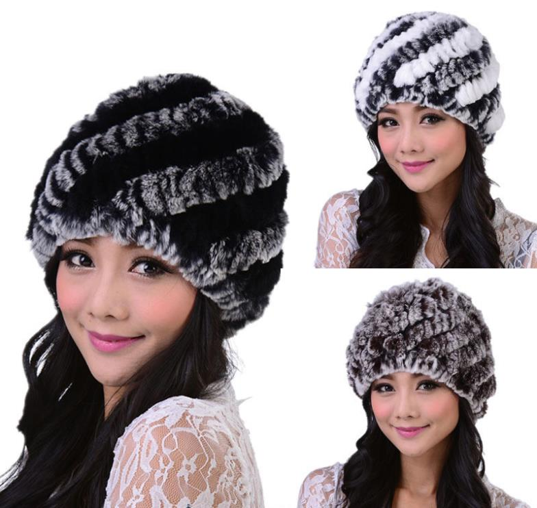 DL6015 Hot sale !!! Women winter rex rabbit fur hat kint Genuine rex Rabbit fur Cap Headgear Fashion cap Free Shipping(China (Mainland))