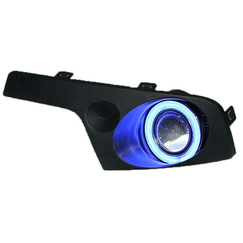 COB angel eye DRL daytime running light + halogen fog lamp + projector lens + fog lamp cover for Geely GX7 SX7 2012-13, 2pcs