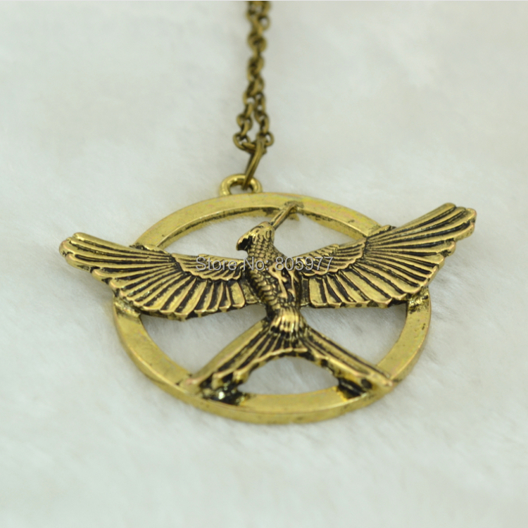 Statement Necklace Hunger Game 3 Pendant Necklace Bird Alloy Necklace One-sided For Women&Men High Quality Necklace(China (Mainland))