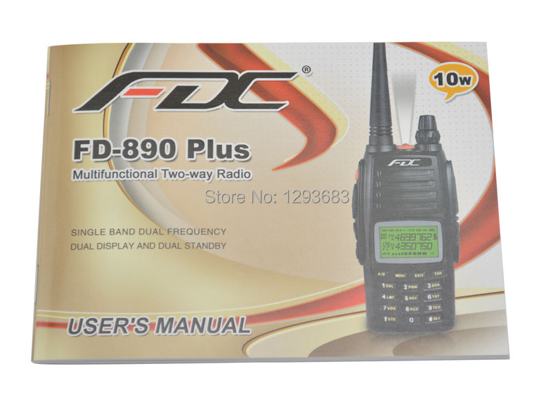 2014 New Arrival FDC FD-890 Plus 10W walkie talkie UHF 400-470MHz Professional FM Transceiver walky talky professional(China (Mainland))