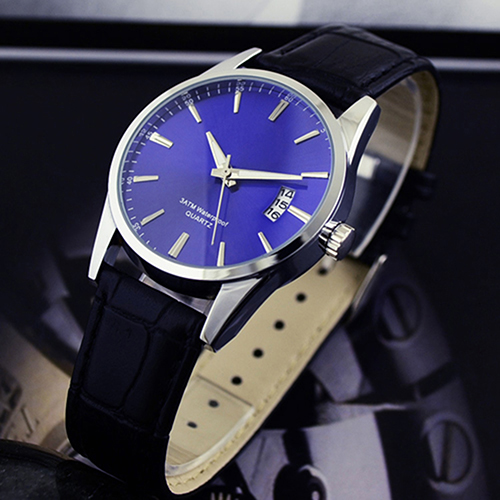 Mens Fashion Calendar Date Sport Faux Leather Quartz Business Watches Gift  High Quality<br><br>Aliexpress
