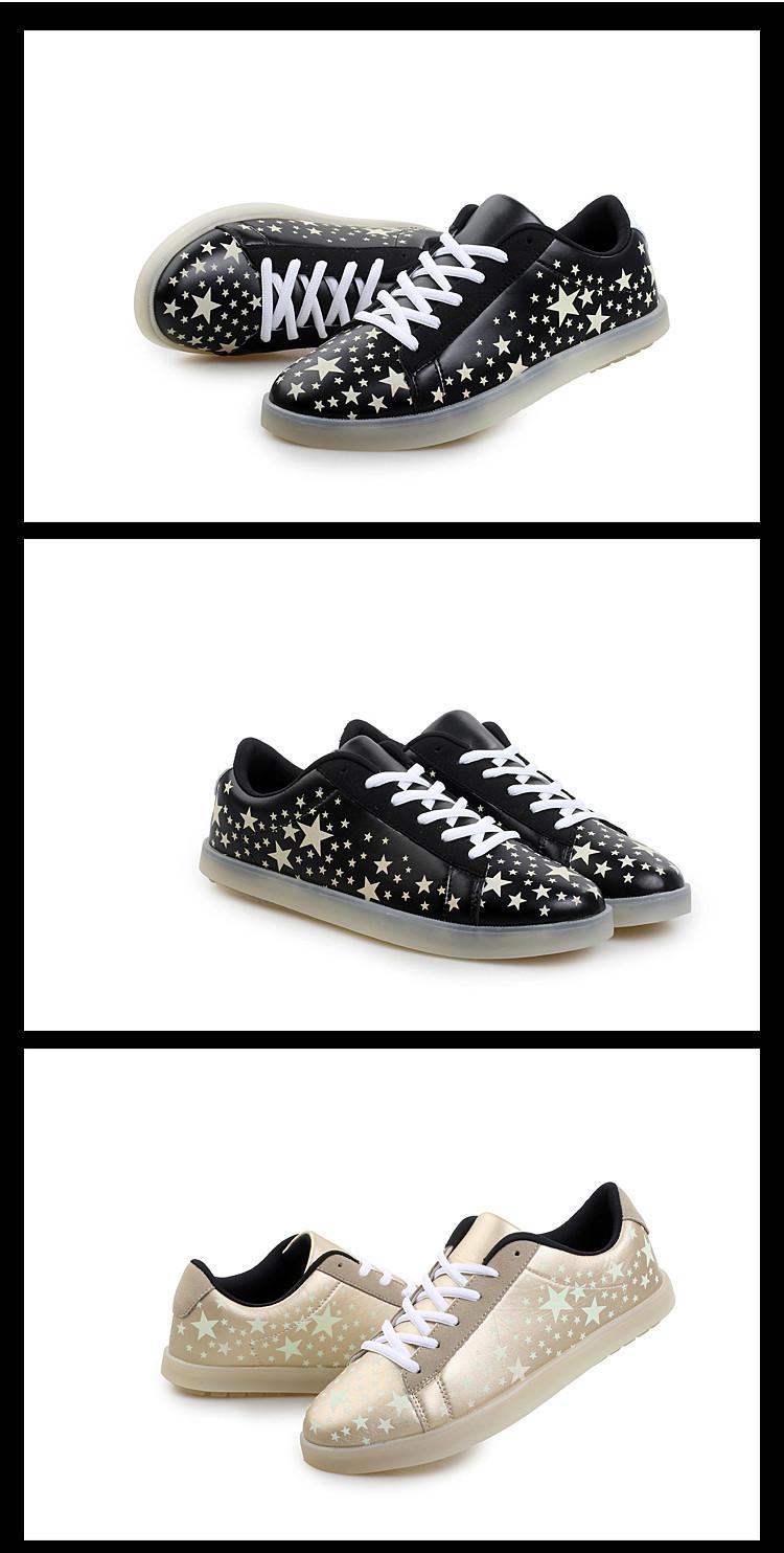 Люминесцентные Обувь 2015 Звезда Мужчины Женщины Мода Светящиеся Повседневная Обувь на шнуровке с Низким Топ Светятся В Темноте Освещенные Обувь Для взрослых